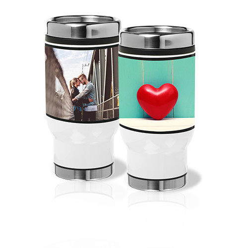 14 oz Stainless Steel Tumbler - Take your favorite drink and your favorite picture on the road with this 14 oz customized Stainless Steel Tumbler.