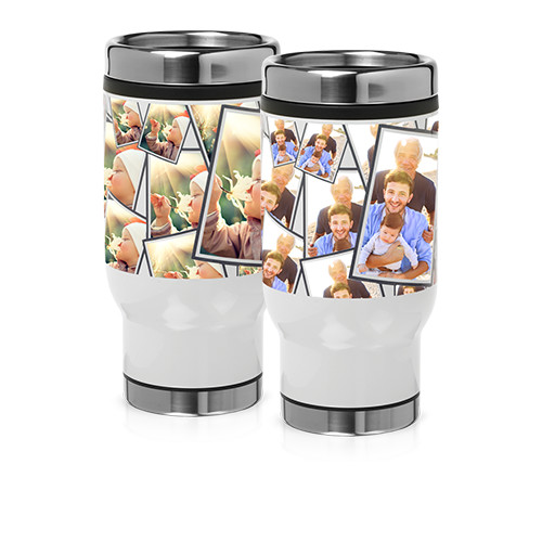 14 oz Tiled Stainless Steel Tumbler - Tile your favorite photo around the outside of this 14 oz Stainless Steel Tumbler.