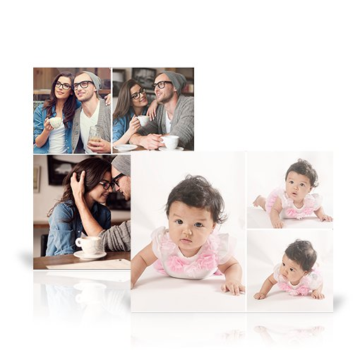 Collage Metal Prints - Infuse up to 30 of your favorite photos onto a sleek Collage Metal Print for a unique addition to your home decorating.