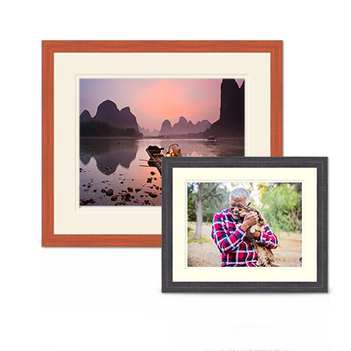 Barnwood Frames with Mats - Create a rustic style for your photo that's both contemporary and timeless.