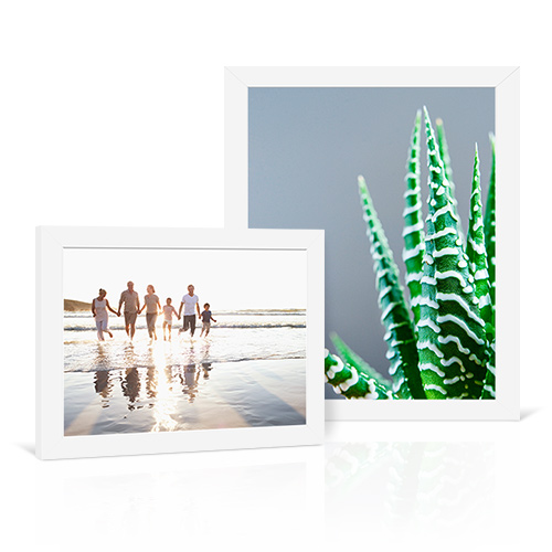 Basic White Frame - Enjoy fresh sophistication with a basic white frame.