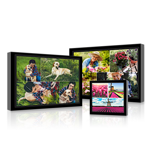 Collage Framed Gallery-Wrapped Brushstroke Canvas - Create a Collage Framed Gallery-Wrapped Brushstroke Canvas with up to 30 of your best photos digitally-enhanced using a brushstroke design.