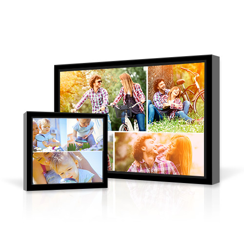 collage framed gallery wrapped canvas create your very own wall art with a collage
