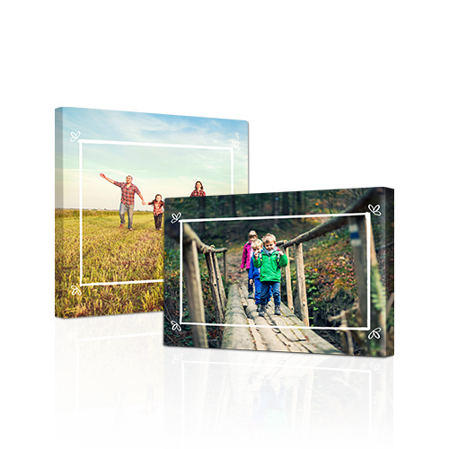 Dainty Frame Gallery-Wrapped Canvas - Bring out the best in your photos by choosing the Canvas Art design that features your favorite decorative elements.