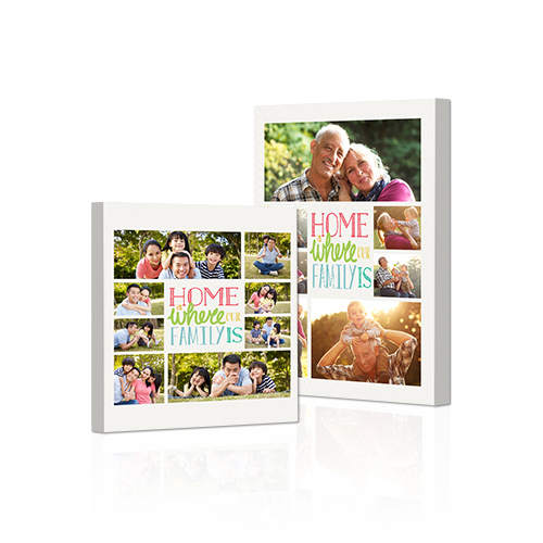 Family Motto Gallery-Wrapped Canvas - Bring out the best in your photos by choosing the Canvas Art design that features your favorite decorative elements.