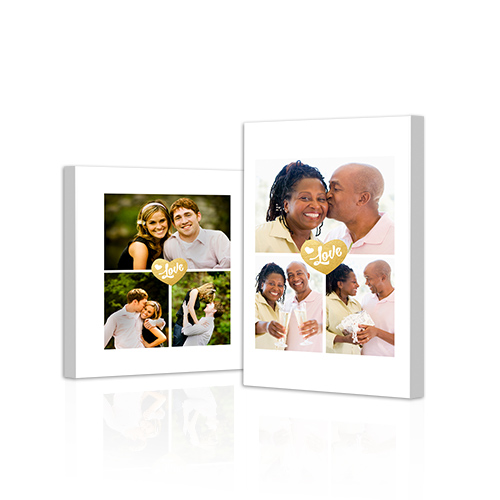 Heart Equals Love Gallery-Wrapped Canvas - Bring out the best in your photos by choosing the Canvas Art design that features your favorite decorative elements.