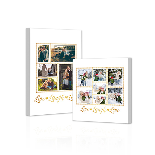 Live Laugh Love Gallery-Wrapped Canvas - Bring out the best in your photos by choosing the Canvas Art design that features your favorite decorative elements.