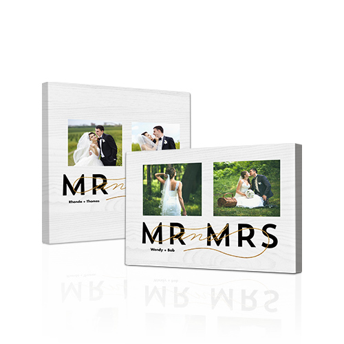 Mr and Mrs Gallery-Wrapped Canvas - Bring out the best in your photos by choosing the Canvas Art design that features your favorite decorative elements.