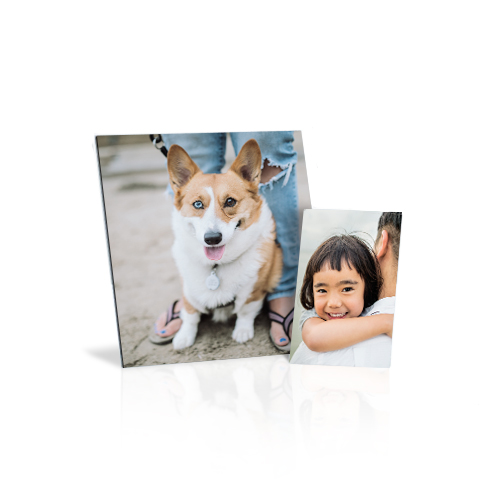Canvas Mini - Create desktop art by printing your treasured photo on a thin canvas board. Includes stand.