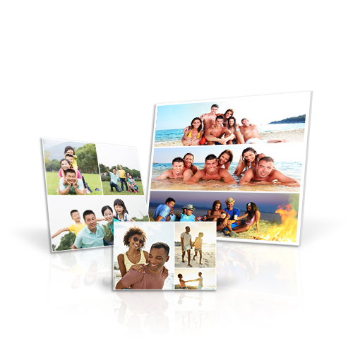 Canvas Mini Collage - Create desktop art by printing your treasured photos on a Canvas Mini Collage. Choose 6 to 10 of your favorite photos depending on canvas size.