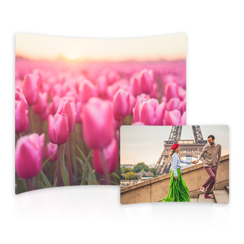 Curved Metal Prints - Perfect for the home or office, put at a twist on modern décor with a Curved Metal Print.