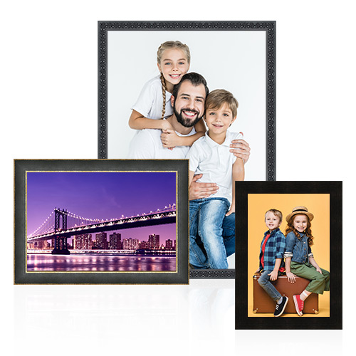 Designer Collection Frame - Showcase your precious memories in a designer frame. This is custom frame luxury without the high price tag. We offer exceptional quality, hand-crafted frames that are 100% solid wood. Available with or without a mat, your custom framed photo will transform any room in your home, office or workplace.