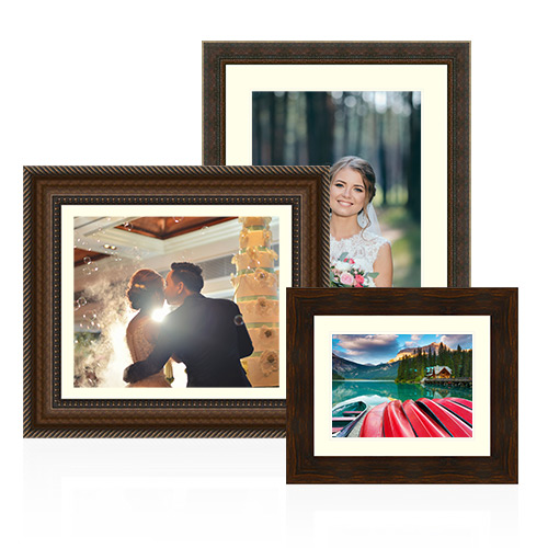Designer Collection Frame and Mat - Showcase your precious memories in a designer frame. This is custom frame luxury without the high price tag. We offer exceptional quality, hand-crafted frames that are 100% solid wood. Available with or without a mat, your custom framed photo will transform any room in your home, office or workplace.