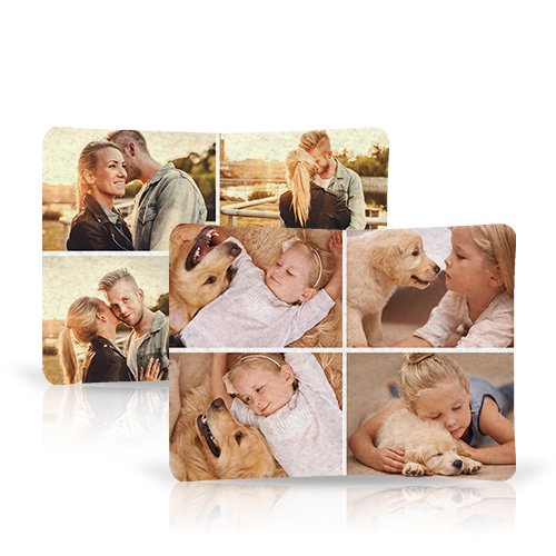 Collage Fleece Blanket - Snuggle up with a lightweight, warm and comfy Collage Fleece Blanket, printed with up to 30 of your favorite photos.
