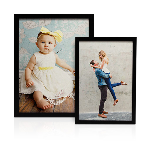Framed Canvas Print - Display your favorite photo with a sleek and seamless Canvas Image Box. Your photo is printed on traditional canvas and stands out from the wall in a 1 1/4' thick black frame.