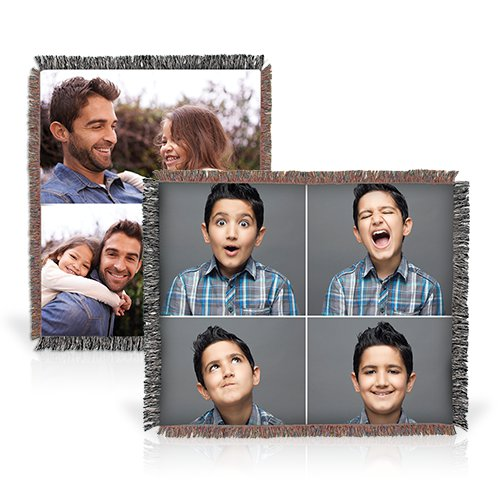 Collage Full Throw - Add a touch of personality to your decorating or wrap yourself in memories with this Collage Photo Throw, printed with up to 30 of your favorite photos.