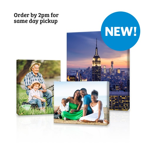 Same Day Canvas - Bring beautiful memories home with Same Day Canvas Prints. Order by 2 PM for same day pickup. Available at Clubs with Photo Centers.
