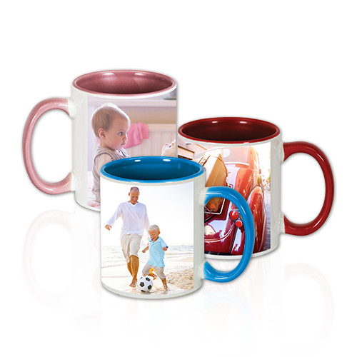 11 oz Colorful Mug - Sip and smile with this ceramic mug with a colorful interior that stars your favorite photo. Dishwasher and microwave safe.