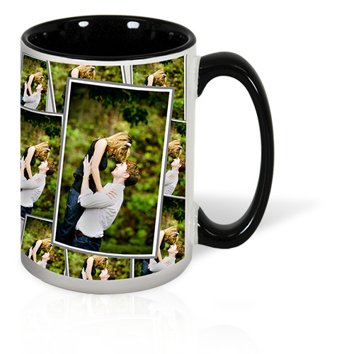 15 oz Tiled Photo Mug - Inspire a smile with every sip by tiling your favorite photo on a dishwasher and microwave-safe 15oz mug.