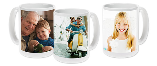 15 oz Photo Mug - Inspire a smile with every sip. Print your treasured photo on a dishwasher and microwave-safe 15oz mug.