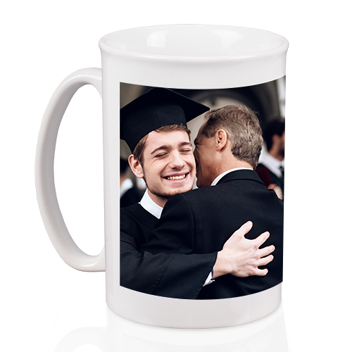 Bistro Mug - Savor the moment with an 18 oz Bistro Mug. Customized with your photo, it features a curved top edge and is microwave and dishwasher safe.