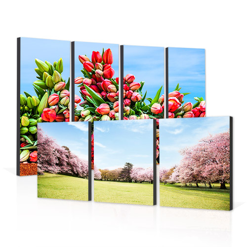 Split Image Mounted Prints - Make a statement with your favorite photos printed on Split Image Blocks, great for any room of the house.