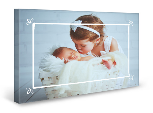 dainty frame gallery wrapped canvas