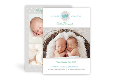 Birth Announcements - Twins
