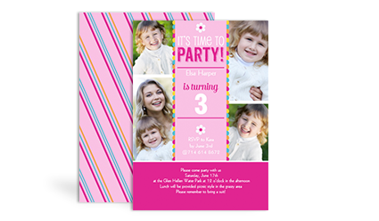 Sams club stationery birthday invitations kids birthday girl stopboris Images