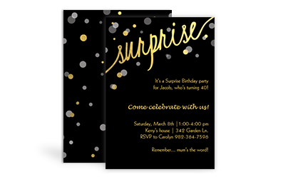 Sams club stationery birthday invitations surprise birthday invitations filmwisefo