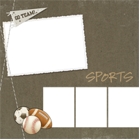 Scrapbook Page - Sports Page 1 - Scrapbook Page - Sports Page 1