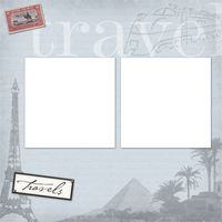 Scrapbook Page - Travel Page 1 - Scrapbook Page - Travel Page 1