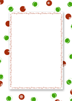 5x7 - Merry Christmas - Dots - 5x7 - Merry Christmas - Dots