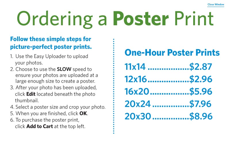 Ordering A Poster Print